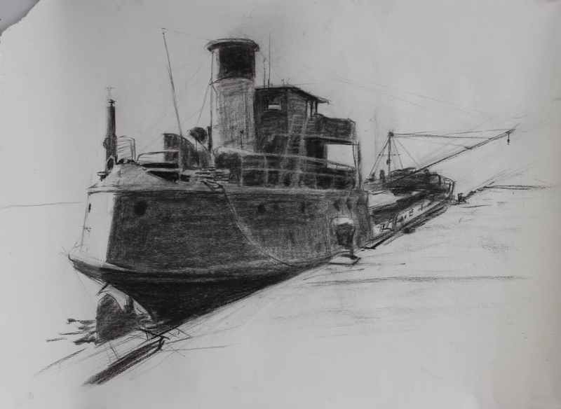Mary Whalen Charcoal Study 1