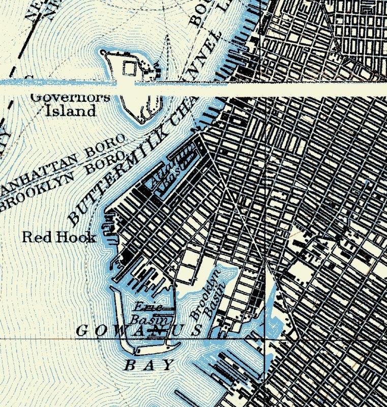 1899 Noaa NYCV Topographic
