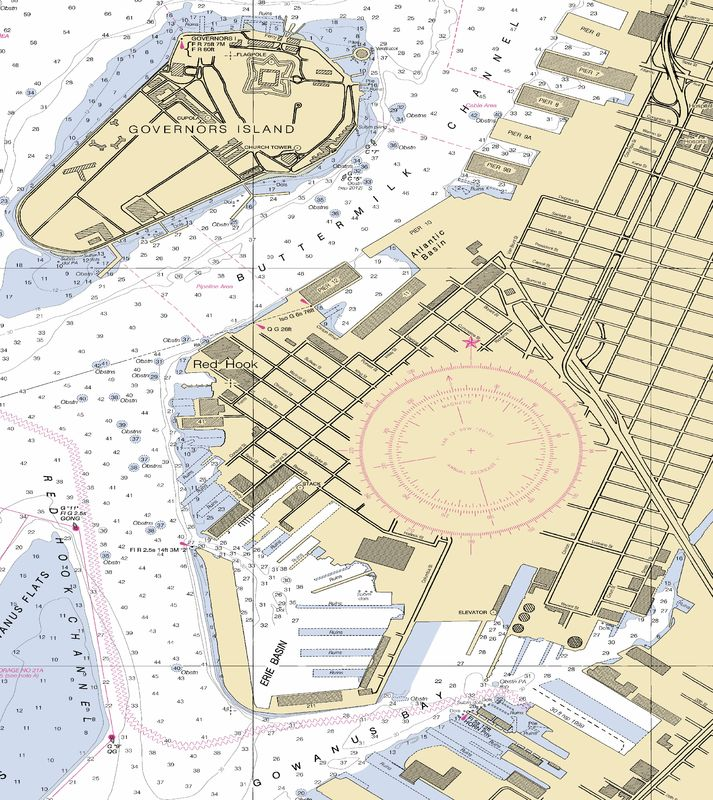 Nautical Chart No. 12334, New York Harbor Upper Bay and Narrows, 72nd Ed., 2013 [cropped]