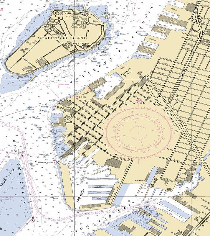 Nautical Chart No. 12334, New York Harbor Upper Bay and Narrows, 72nd Ed., 2013 [cropped]