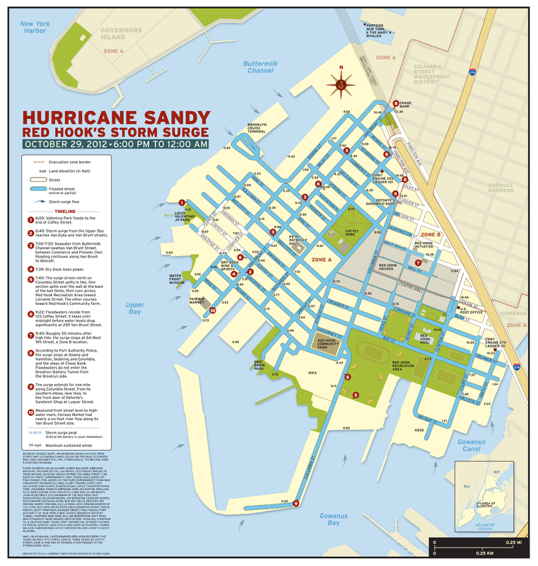 Sandy Storm Surge map, 2012