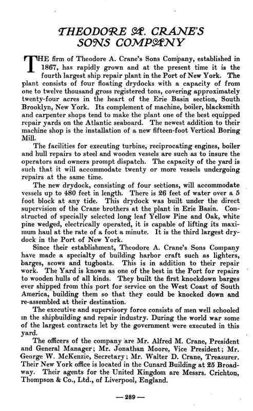 Theos. A. Crane's Sons, <strong><em>Pilot Lore,</em></strong> 1922