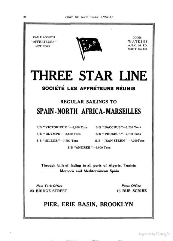 Ad: The Three Star Line