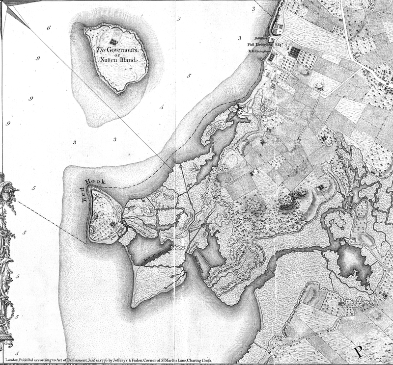 1766 Ratzer Map - Cropped to Red Hook
