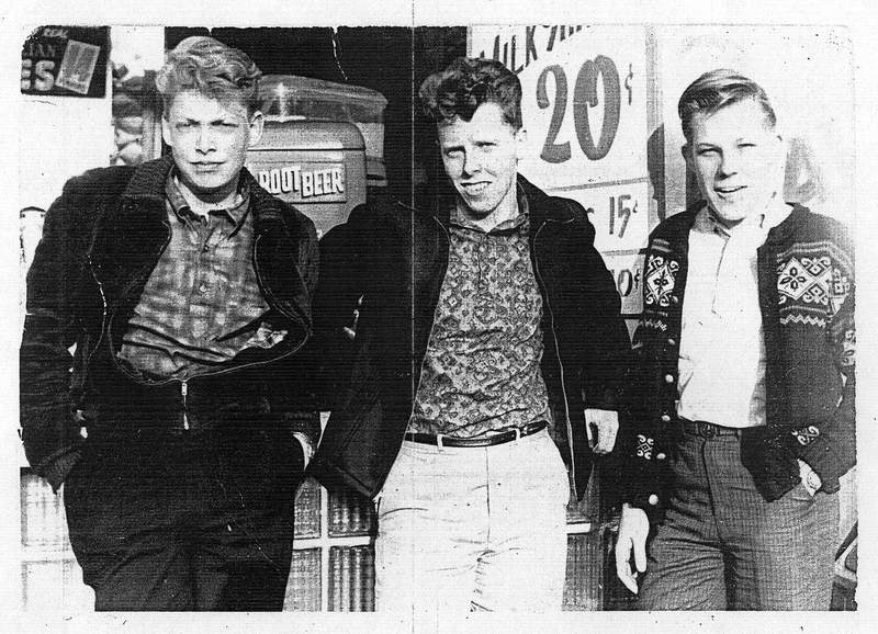 """The dudes of Brooklyn""  Alf Dyrland's son Bill, and Bill's cousins Bobby and Paul Dyrland."