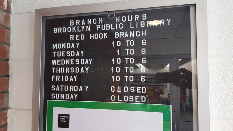 Red Hook Library Branch Hours