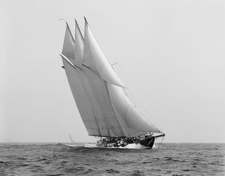 Schooner Atlantic - masts by the Brooklyn Spar Company.<br /><br />