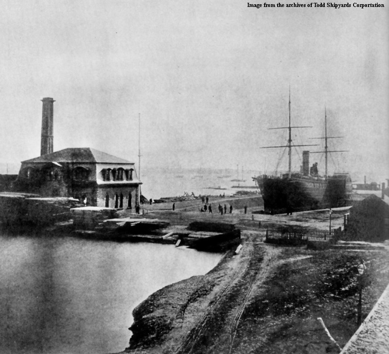 Erie Basin Graving Dock, 1866