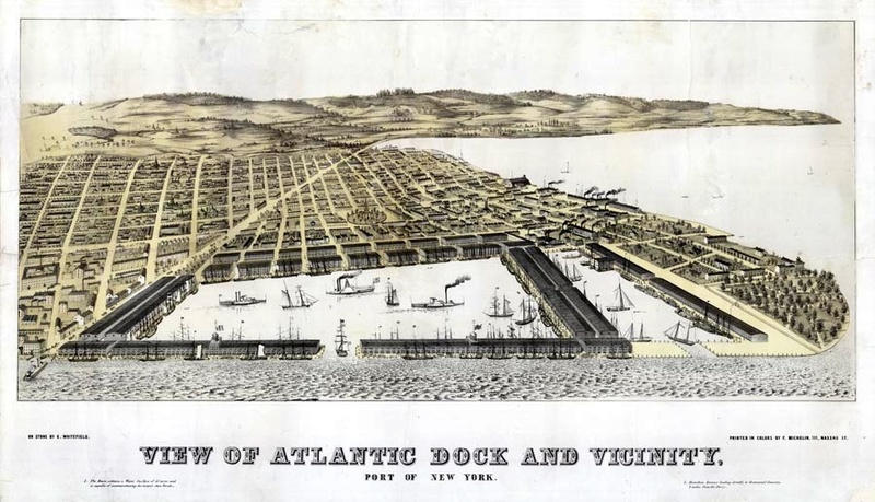 View of Atlantic Dock and Vicinity,  ca. 1846