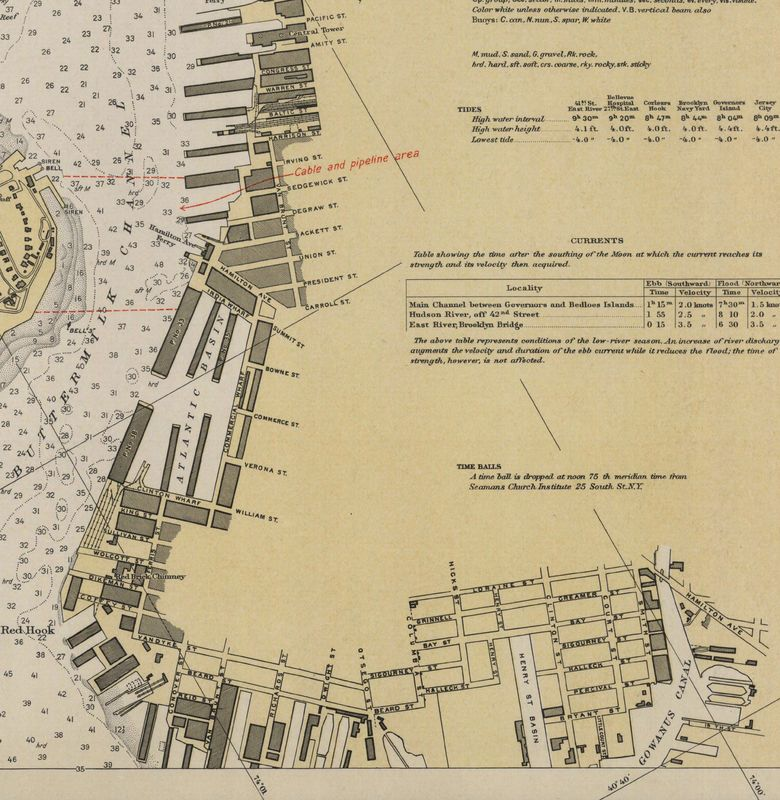 Nautical Chart No. 369(4),2nd Ed., Hudson & East Rivers, US Coast & Geodetic Survey, 1930 [cropped]