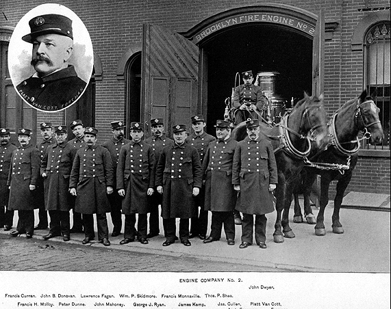 Company photo from the Brooklyn edition of  Our Firemen, 1892