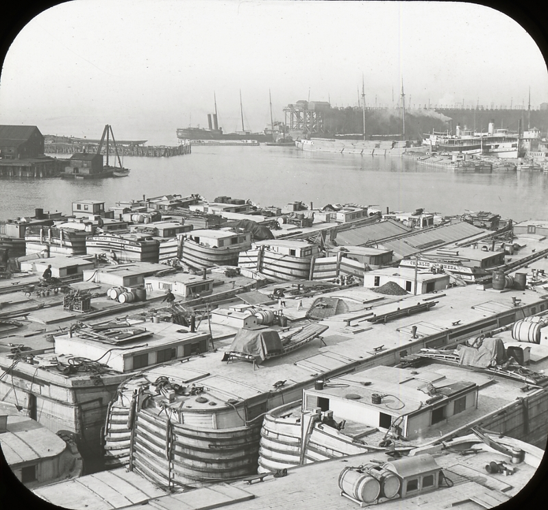 Erie Basin canal boats, ca. 1900