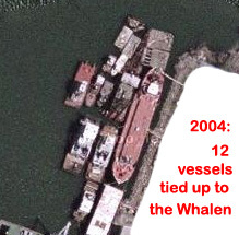 Mary A. Whalen as floating dock, Erie Basin,  2004