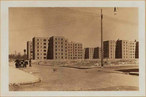 Red Hook Houses under construction