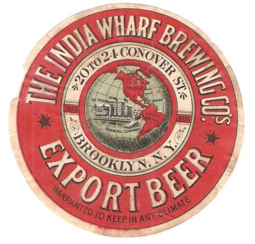 Indian Wharf Brewing Company label