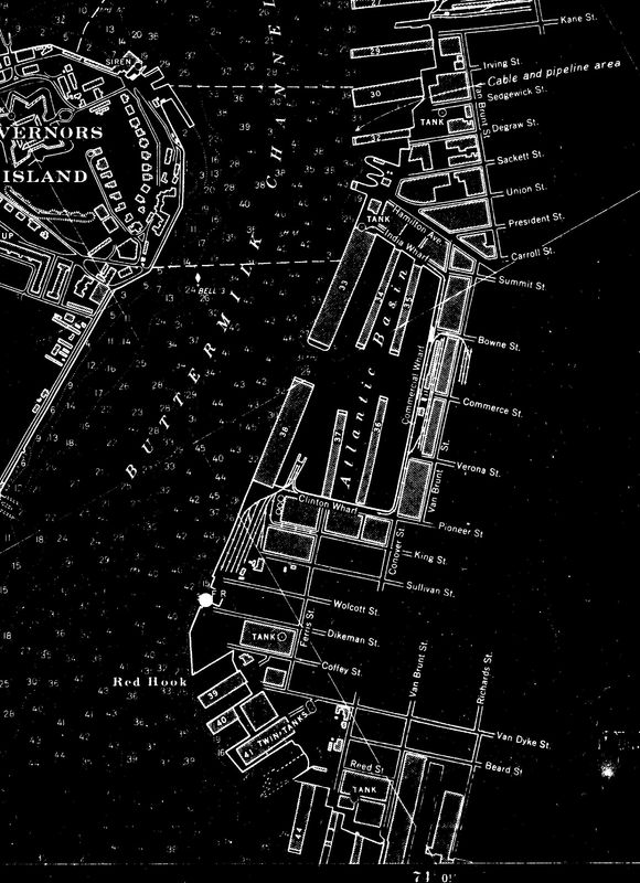 Nautical Chart No. 745, Hudson and East Rivers, 1941 [cropped]