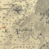 Nautical Chart No. 369, New York Bay and Harbor, 1845 [cropped]